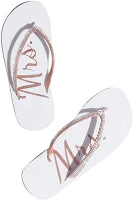 Bridal Rhinestone Mrs Flip Flops Style