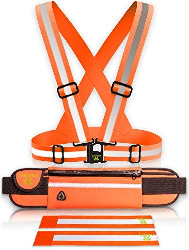 big-sale-extremely-visible-4-pc-set-reflective-vest-waterproof-running-belt-2-armbands-reflective-ge