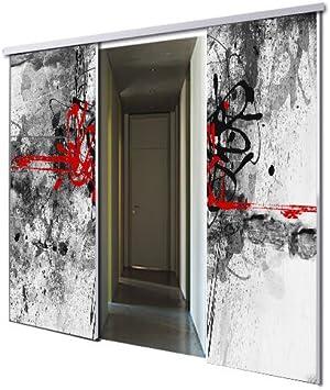 tixelia – Puerta Corredera con galandage 2 vantaux diseño Urban ...