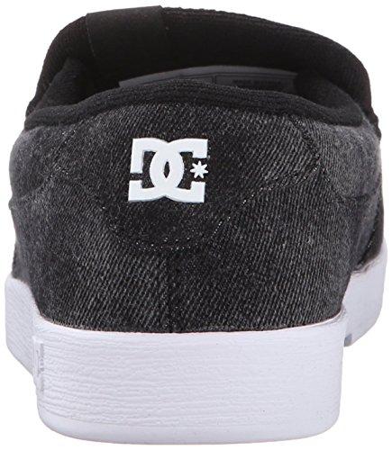 DC Shoes Men's Villain TX Shoes Slip-on Low Top Shoes Black (lkd)