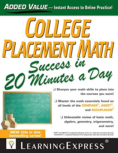 College Placement Math Success in 20 Minutes a Day (1st 2013) [Jeremko & Schultz]