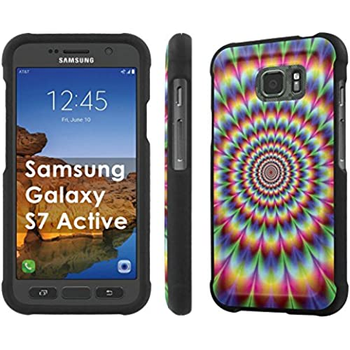 AT&T [Galaxy S7 Active] [5.1 Screen] Armor Case [NakedShield] [Black] Total Armor Protection [Shell Snap] + [Screen Protector] Phone Case - [Psychedelic] for Samsung Sales