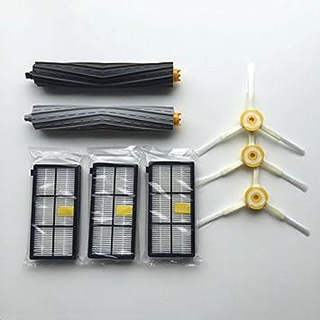 Cepillos Kit de mantenimiento para las iRobot Roomba serie para iRobot Roomba 800 860 866 870 871 880 886 890 900 960 966 980 Serie Aspiradora Juego de ...
