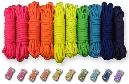 Solid Colors Bracelet Kit 20 425 Paracord Bracelet Kit Makes 10