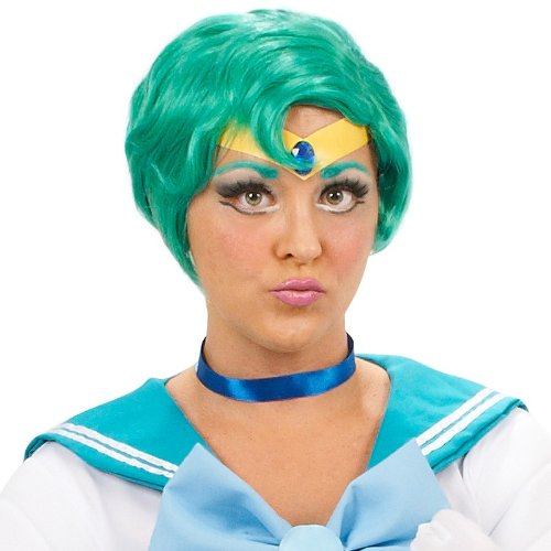 InCogneato Sailor Moon Mercury Costume Wig