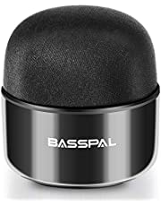 BassPal Portable Bluetooth Speakers, Small IPX5 Wireless Waterproof Speaker with Crisp Loud Sound, Radio & TWS, Little Mini Pocket Size for Home Travel Shower Pool Beach Outdoor-1 Pack
