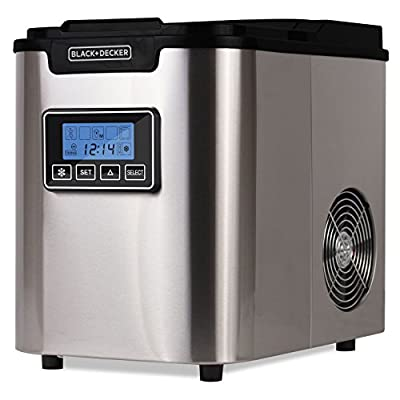 BLACK+DECKER BIMY126S WACDBIMY126S 26-lb Capacity Stainless Steel Ice Maker