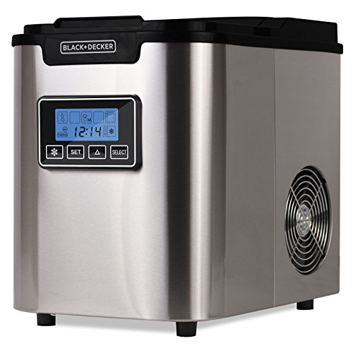 BLACK+DECKER BIMY126S 26 Pound Capacity Stainless Steel Ice Maker