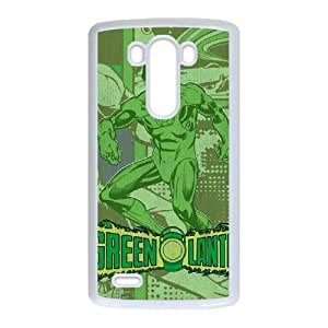 LG G3 Cell Phone Case White Green Lantern Comic LSO7772796