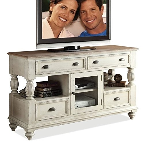 Riverside Tv Console - Riverside Furniture Coventry Two Tone Tall TV Console in Dover White