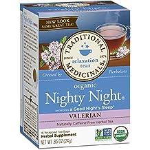 Traditional Medicinals Organic Nighty Night Valerian Tea, 16 Tea Bags
