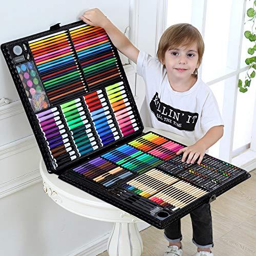 Flqwe Penne da coloreare per Pittura ad Acquerello, Set di pennelli per Pittura ad Acquerello Set di pennelli per Pittura ad Acquerello, Vestito rosa