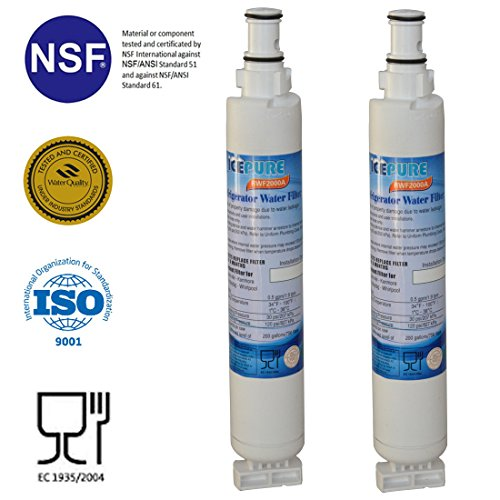 ICEPURE 4396701 Replacement Refrigerator Water Filter, Compatible with Whirlpool 4396701, 4396702, EDR6D1, Filter...