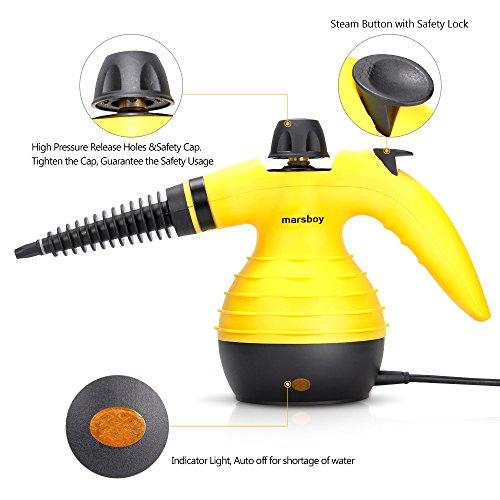 Handheld Pressurized Steam Cleaner, Marsboy Cleaning Tool
