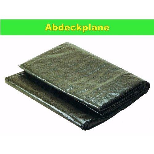 Lona de polietileno resistente a los desgarros con ollaos verde 1, 5 x 10 m para madera NiNeKa