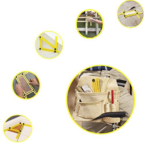 Angleizer Template Tool, GP Life Improved Multi Angle Measurement Ruler, Angleizer Instrument for Builders Craftsmen Tilers Handymen Carpenter Roofers DIY