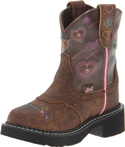 Justin Boots Gypsy with Light-Up Western Boot (Toddler/Little Kid) Brown Lites Boot 13.5 Little Kid M