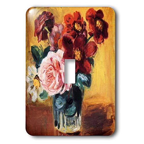 - 3dRose VintageChest - Masterpieces - Renoir - Vase with Anemones and Roses - Light Switch Covers - single toggle switch (lsp_303062_1)
