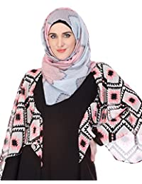 Modest Forever Sober Grey-Pink Patched Hijab