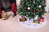 Clever Creations White Reindeer Christmas Tree