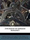 Specimens of German Romance, George Soane and C. F. van der 1779-1824 Velde, 1179458737