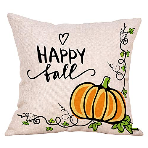 Pausseo Halloween Festival Pillowcase, Cotton Linen Square Pillow Cover Cushion Sofa Waist Throw Pillowcase Home Decoration Office Car Bed Decor Wrinkle Resistant Pillowslip Gift,45x45cm
