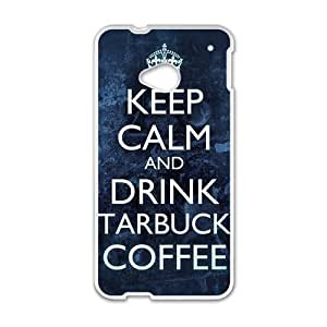 Happy Starbucks design fashion cell phone case for HTC One M7