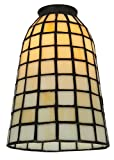 5 Inch W Geometric Beige Shade Theme TIFFANY CONTEMPORARY
