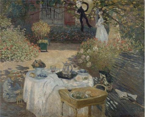 'Lunch At Parigi 1874 By Claude Monet' Oil Painting, 24x30 Inch / 61x76 Cm ,printed On High Quality Polyster Canvas ,this Replica Art DecorativePrints On Canvas Is Perfectly Suitalbe For (Halloween 4 Blu Ray Best Buy)