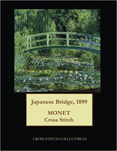Japanese Bridge, 1899: Monet cross stitch pattern: Cross