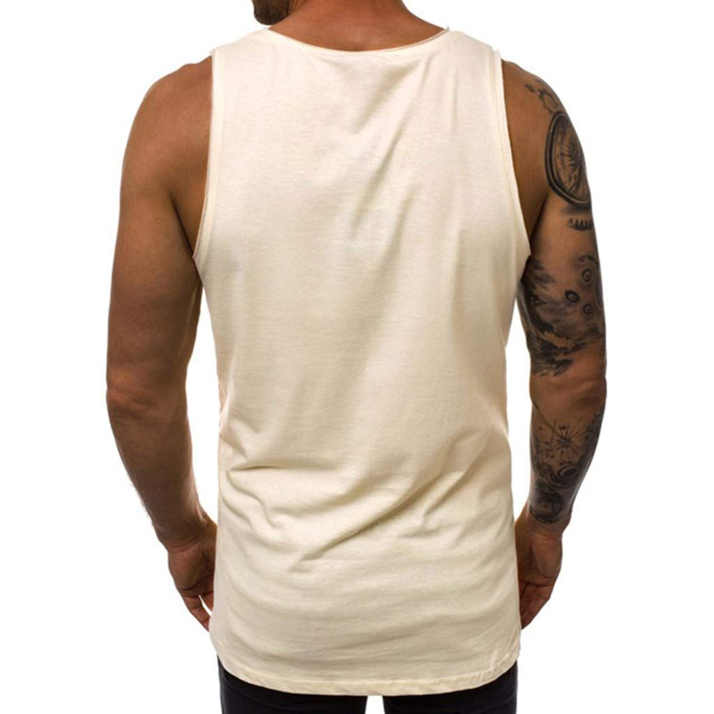 MmNote mens clothes clearance sale Mens Muscle Fitness Rock Skull Print Sleeveless Tank Top Vest