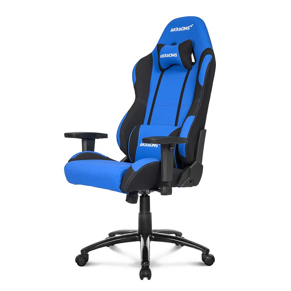 AKRacing Core Series EX Gaming Chair with High Backrest, Recliner, Swivel, Tilt, Rocker and Seat Height Adjustment Mechanisms with 5/10 Warranty - Blue/Black