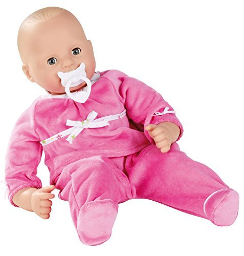 Gotz Maxy Muffin 16.5 Bald Baby Doll in Pink Sleeper with Blue Sleeping Eyes by Gotz - Gotz Maxy Muffin