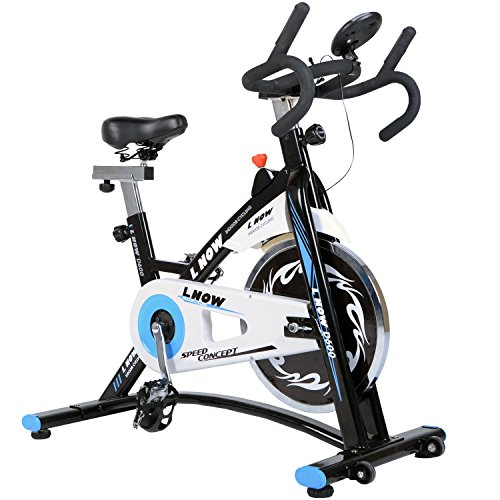 L NOW Indoor Cycling Bike Smooth Belt Driven (Model (Spin Cycle)