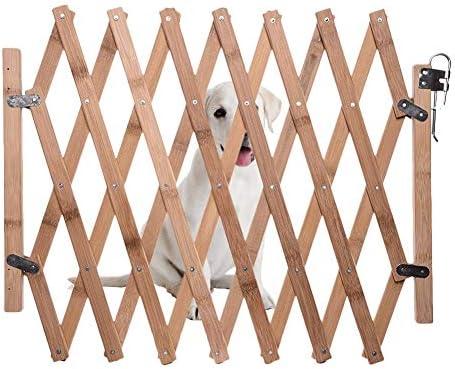 Bestlle Barrera de seguridad plegable para mascotas, puerta ...