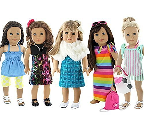 Doll Club of America 28 Piece Holiday Lot Fits 18-Inch American Girl Doll Clothes (A American Girl Doll Clothes)