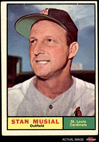(1961 Topps # 290 Stan Musial St. Louis Cardinals (Baseball Card) Dean's Cards 4 - VG/EX Cardinals)