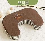 D Oketani Stripe feeding Cushion (brown)