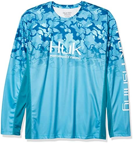 HUK メンズ アイコン X 迷彩 フェードシャツ 2X-Large ブルー