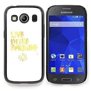 Stuss Case / Funda Carcasa protectora - Vive Cita Sol Sun Amarillo Blanco - Samsung Galaxy Ace Style LTE/ G357