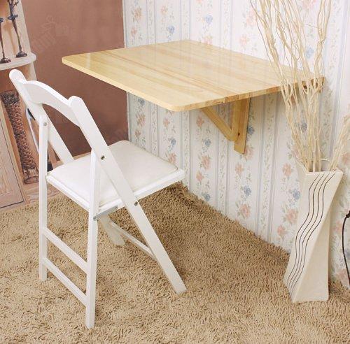 SoBuy® Wandklapptisch, Küchentisch, Klapptisch, Esstisch aus Holz, 75x60cm, FWT01-N (Natur)