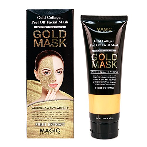 Magic Collection Gold Collagen Peel Off Facial Mask Gold Mask Whitening Anti-Wrinkle Face Mask ()