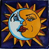4x4 9 pcs Sun and Moon Talavera Mexican Tile