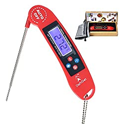 Instant Read Meat Thermometer Digital For Grill BBQ Baking steak Grilling Cooking & All Professional Food Thermometer upgrade - Includes Internal Meat Temperature Guide