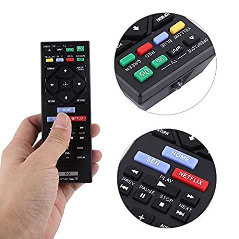 RMT-B126A New Replacement Remote Control for SONY Blu-Ray DVD Player BDP-BX120 BDP-BX320 BDP-BX520 BDP-BX620 BDP-S1200 BDP-S5200/D BDP-S6200 BDP-S2100 BDP-S2200 BDP-S3200 (Blu Ray Sony Bdp S6200)