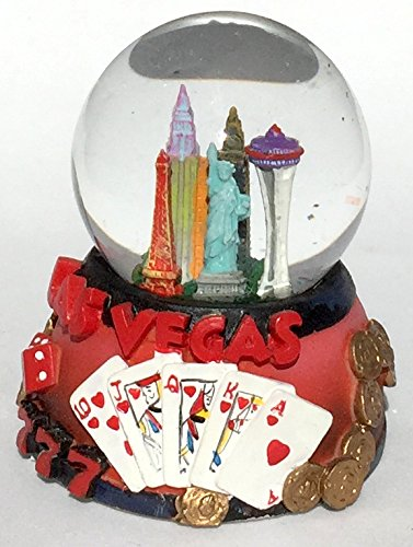 "Mini Las Vegas 45mm 2.5"" Tall Sin City Snow Globe, Water Globe, Glitter Dome"