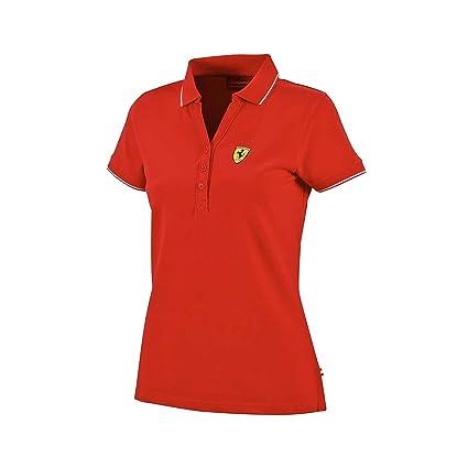Ferrari F1 - Polo de piqué de algodón para Mujer, Color Rojo ...