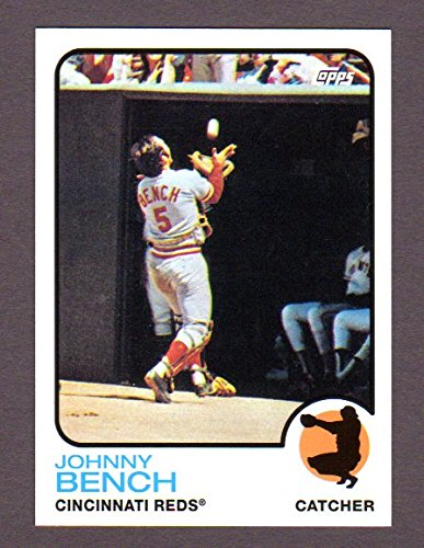 Johnny Bench Memorabilia - Johnny Bench 1973 Topps (from 2010 Topps) **The Cards Your Mom Threw Out** (Cincinnati Reds)