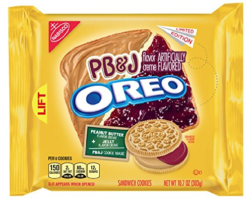 amazon com pb j oreo peanut butter and jelly oreo cookie grocery gourmet food