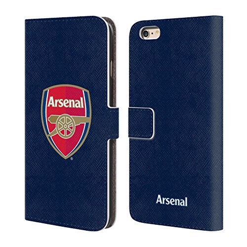 Official Arsenal FC Full Colour Blue 2016/17 Crest Leather Book Wallet Case Cover for iPhone 6 Plus/iPhone 6s Plus